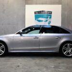 Sølvgrå Audi A4 med tonede ruder
