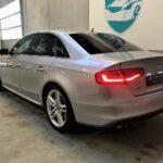 Brugt Audi A4 i sølvgrå set bagfra