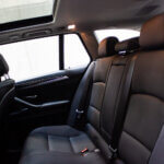 Bagsæder i hvid BMW 520d